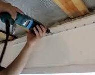 монтаж профиля для тканевого потолка
