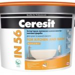 Краска CERESIT IN 56 FOR KITCHEN AND BATH Интерьерная латексная шелковисто-матовая краска
