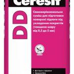 Самовыравнивающаяся смесь для подготовки поверхности пола под укладку покрытий (толщина слоя от 0,5 до 5 мм)Ceresit DD
