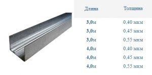 Профиль для гипсокартона UD 27 (УД 27)