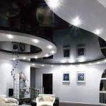 Многоуровневый комбинированный потолок