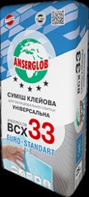 Клей для плитки ANSERGLOB ВСХ-33, 25кг