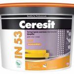 Краска CERESIT IN 53 LUX Интерьерная матовая латексная краска