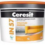 Краска CERESIT IN 57 STRUCTURE Интерьерная структурная краска