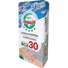 Клей для плитки ANSERGLOB BSX 30 ,25кг